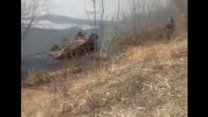 В Смоленске утонувший автомобиль с трупом на озере Александровское сняли на видео
