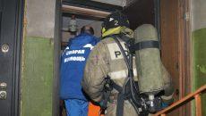 В Смоленске при пожаре пострадала пенсионерка
