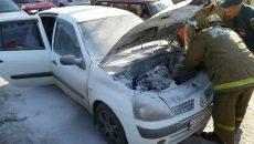 В Смоленске водитель спас охваченную огнем иномарку