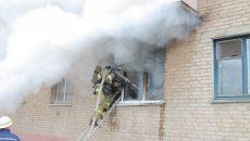 Смоленские пожарные эвакуировали 40 человек из-за пожара в многоэтажке