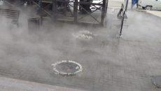 В Смоленске фонтан из-под земли на улице 25 Сентября сняли на видео