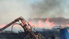 Под Смоленском мужчина едва не лишился дома из-за горящей травы