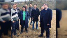 Алексей Островский посетил площадку будущей горнолыжной трассы в Смоленском районе