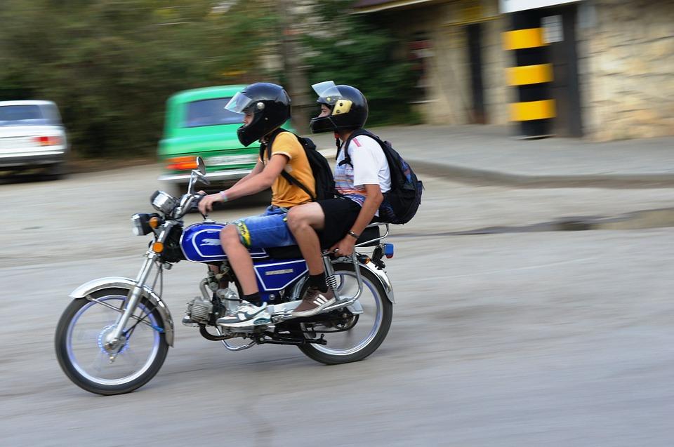 подростки-мотоцикл