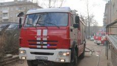 В центре Смоленска горел жилой дом