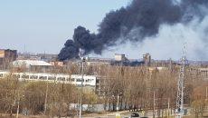 В Смоленске загорелась теплотрасса в промышленной зоне