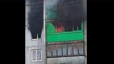 Под Смоленском смертельный пожар в многоквартирном доме сняли на видео