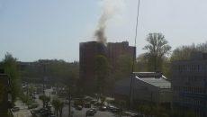 В Смоленске пожар в общежитии СГМУ сняли на видео