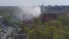 В Смоленске вспыхнул пожар в общежитии медицинского университета