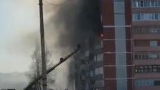 Страшный пожар под Смоленском, в котором погибла мать двоих детей, сняли на видео