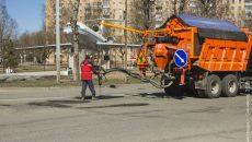В Смоленске установка для ямочного ремонта дорог прошлась по ещё шести улицам
