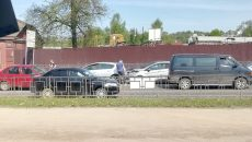 В Смоленске автоавария создала «пробку» возле поворотного кольца
