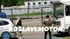 Под Смоленском ДТП с автобусом создало «пробку» на кольце