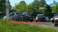 В Смоленске два легковых авто попали в жёсткое ДТП на перекрёстке