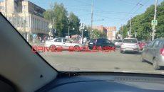 В Смоленске ДТП на Медгородке создало большую «пробку»