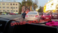 В Смоленске ДТП на перекрёстке закрыло путь трамваям