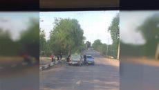 Под Смоленском в ДТП попала машина такси