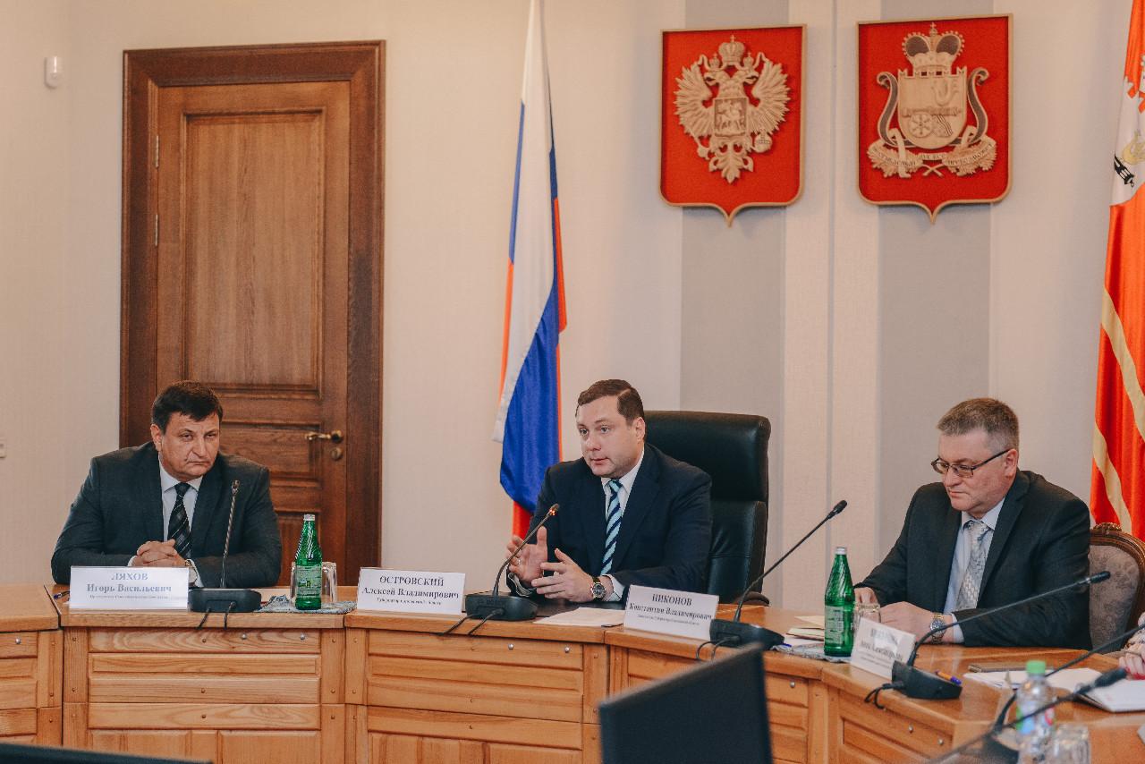 Алексей Островский обсудил с депутатами вопросы реализации в Смоленской области нацпроектов