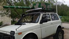 В Смоленске владелец «Нивы» превратил машину в танк