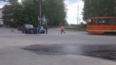 В Смоленске ДТП парализовало движение трамваев
