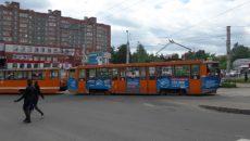 В Смоленске начались испытания трамваев-«челноков»