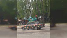 Под Смоленском на дороги вышла «Лада-танк»
