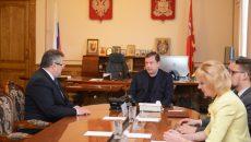 Алексей Островский провел рабочую встречу с главой Шумячского района