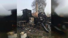Под Смоленском семья лишилась дома и хозяйства из-за пожара
