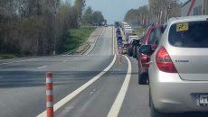 Смоленский участок трассы М-1 парализовала многокилометровая пробка