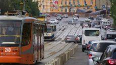 В Смоленске запретили остановку машин на время ремонта трамвайных путей