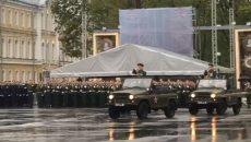 В Смоленске генеральную репетицию парада Победы сняли на видео