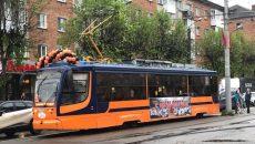 По Смоленску проехал «Трамвай Победы»