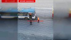 В Смоленске сломался троллейбус. «Помощник» лишь усугубил ситуацию