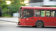 В Смоленске автобус-«гармошку» проводили в последний путь