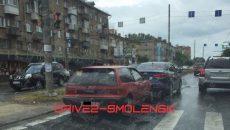 В Смоленске утро вторника началось с аварий и пробок