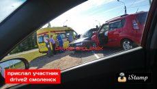Стали известны подробности жесткой аварии на Окружной в Смоленске