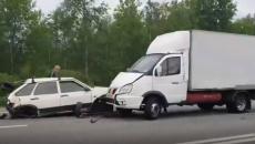 Жесткая авария на трассе: под Смоленском столкнулись фургон и легковушка