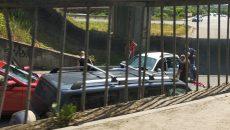 В Смоленске произошло жёсткое ДТП под эстакадой. Есть пострадавший