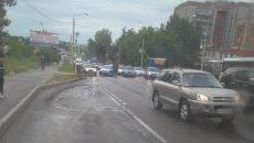 В Смоленске ДТП создало огромную «пробку» на проспекте Гагарина