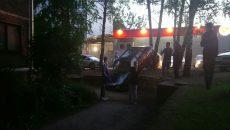 В Смоленске джип столкнул «девятку» с дороги на придомовой тротуар