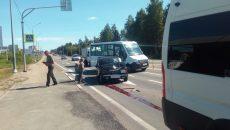 В Смоленске ДТП с маршруткой на Рославльском шоссе испугало автомобилистов