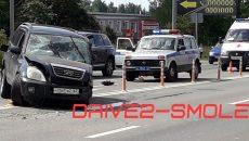 В Смоленске жёсткая авария перекрыла половину Рославльского шоссе