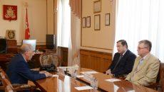 Алексей Островский провёл рабочую встречу с Игорем Шпектором