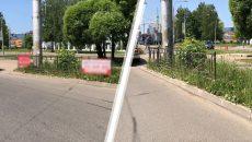В Смоленске убрали незаконную рекламу с ограждений