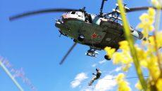 Под Смоленском СОБР десантировался с вертолёта без парашютов