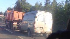 В Смоленске произошло второе за вечер ДТП с большегрузом