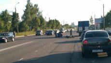 В Смоленске в ДТП попал мотоциклист