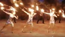 Под Смоленском праздничное фаер-шоу сняли на видео