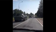 Под Смоленском колонну военной техники сняли на видео