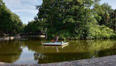 В Смоленске «Музыку на воде» в Лопатинском саду сняли на видео